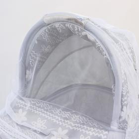 Москитная сетка на коляску универсальная, цвет белый, 80х140 см