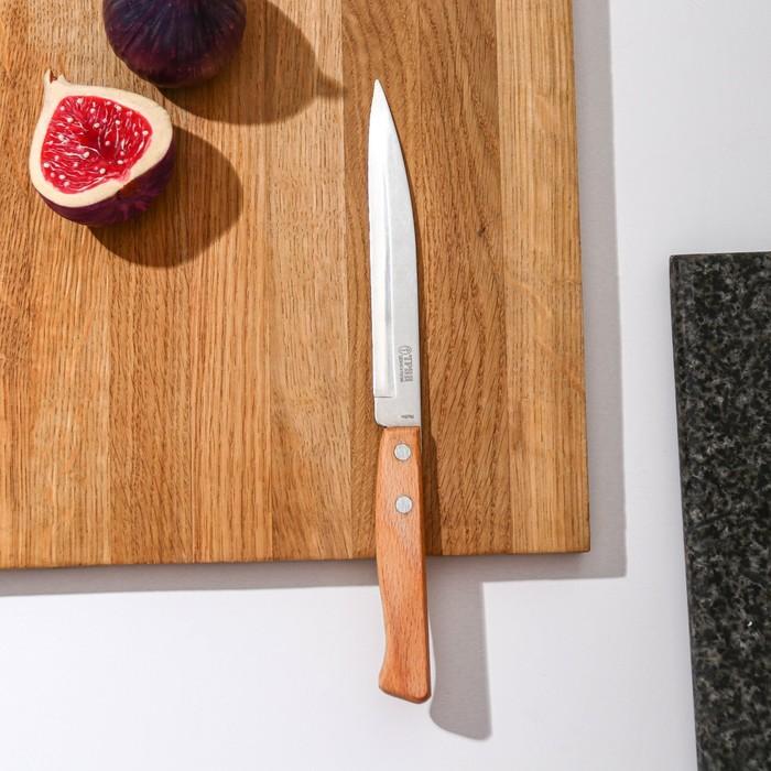 Нож для овощей «Традиционный», лезвие 12,5 см, деревянная рукоять
