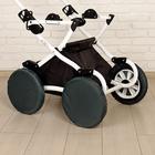 Чехлы на колёса детской коляски, набор 4 шт., полиэстер, цвета МИКС - фото 105546419