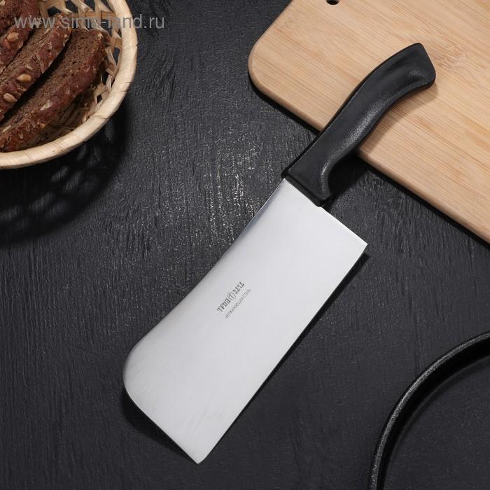 Нож-тяпка для мяса, длина 28 см, режущая часть 16 см