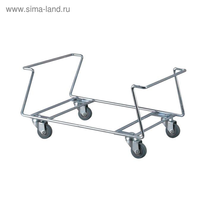 Коллектор под корзины, с поворотными колесами