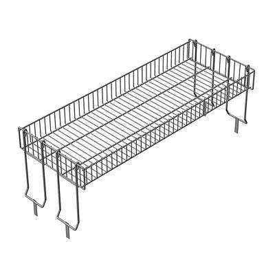 Надстройка для промо-стола, 4 складные опоры, 119*44*45 см, высота корзины - 12 см, цвет хром