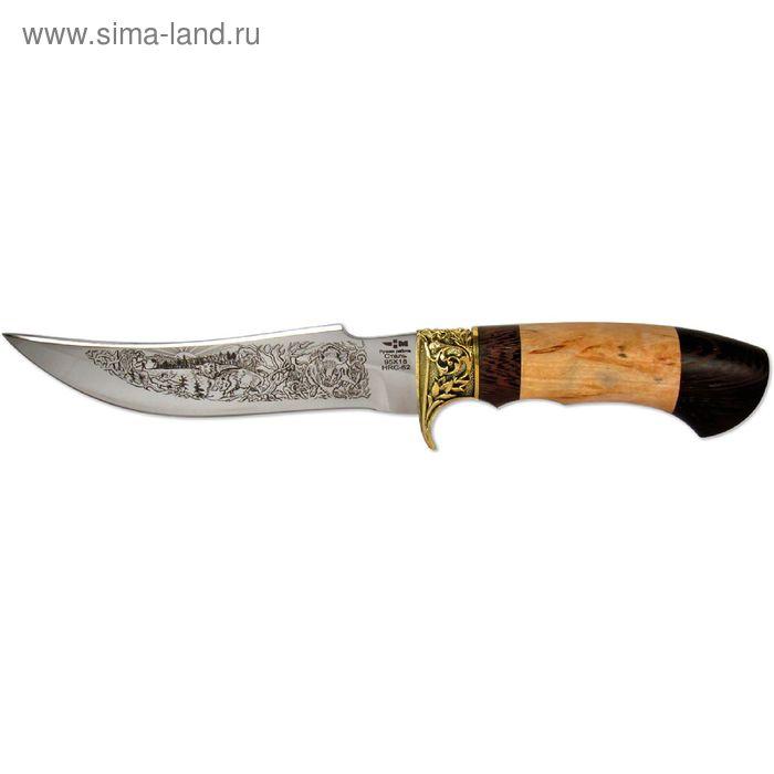 """Нож нескладной """"Пиранья"""" (4199)к, рукоять-венге/карельская береза, сталь 95х18"""