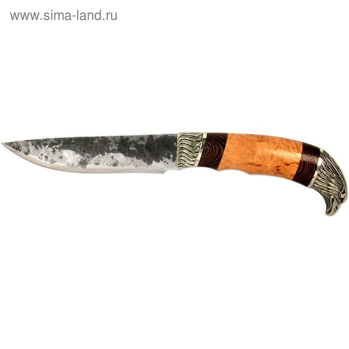 """Нож нескладной """"Варан"""" (8016)9хс, рукоять-карельская береза/венге, сталь 9хс"""