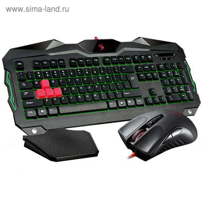 Комплект A4 Bloody Q2100/B2100 (Q210+Q9), клавиатура + мышь, черный