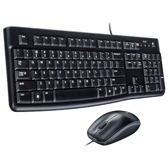 Комплект клавиатура и мышь Logitech MK120, проводной, мембранный, 1000 dpi, USB, черный