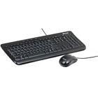 Комплект клавиатура и мышь Microsoft Wired 600, проводной, мембранный, 800 dpi, USB, черный