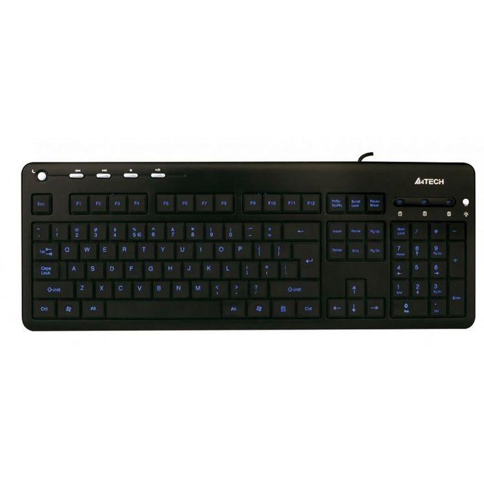 Клавиатура A4 KD-126-1, черный, USB
