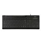 Клавиатура A4Tech KD-800, проводная, мембранная, подсветка, 115 клавиш, USB, черная