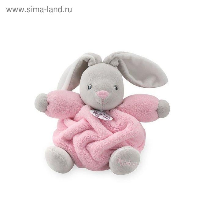 """Игрушка """"Заяц маленький"""" Kaloo, цвет розовый музыкальный, коллекция Плюм, размер 18 см"""