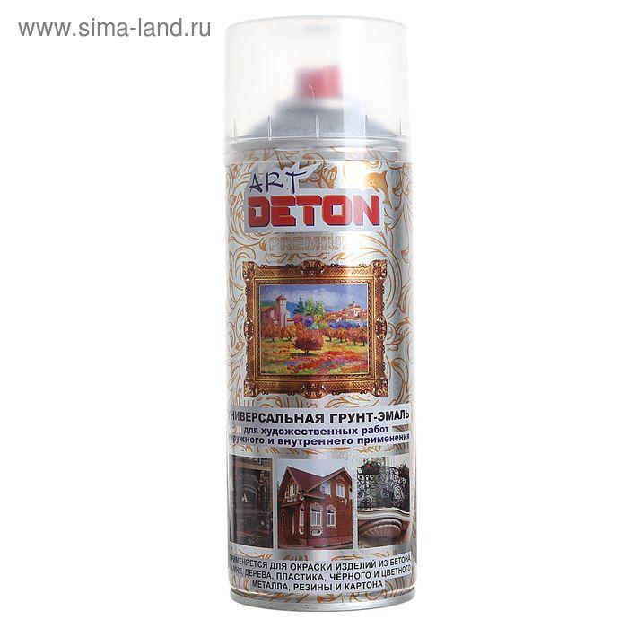 Грунт-эмаль молотковая серебристо-серая Deton ART, аэрозоль 520 мл