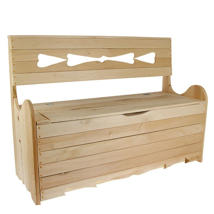"Скамейка с ящиком для белья 120х90х45 см ""Добропаровъ"""