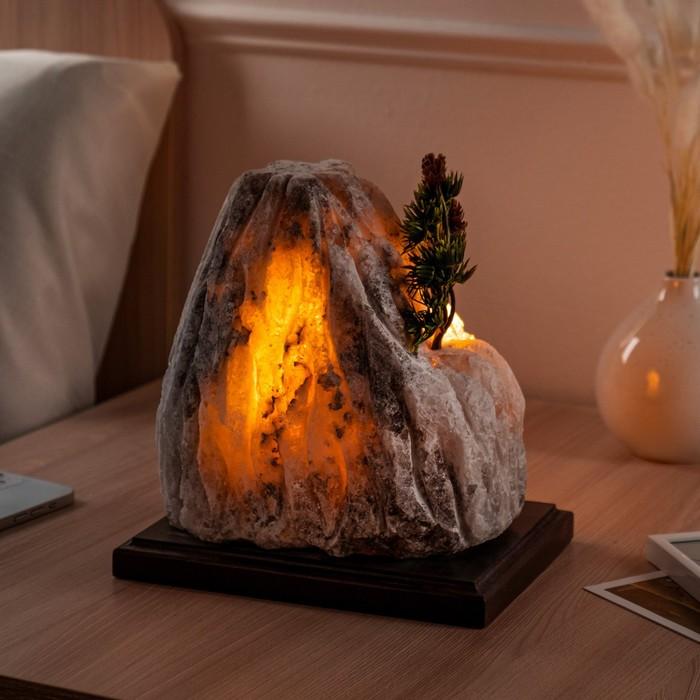 """Соляная лампа """"Гора"""" цельный кристалл, 24 см × 26 см × 16 см, 6-7 кг"""