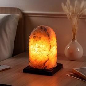 """Соляная лампа """"Гора большая"""", цельный кристалл, 15,5 см, 4-5 кг"""