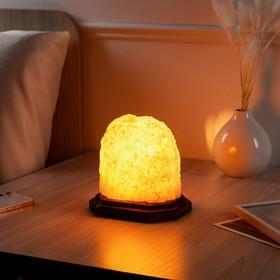 "Соляная лампа ""Гора средняя арома"", цельный кристалл, 16,5 см, 2-3 кг"