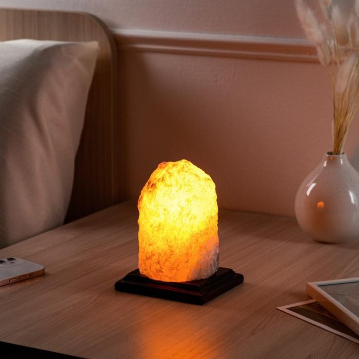 """Соляная лампа """"Гора средняя"""", цельный кристалл, 15 см, 1-2 кг"""