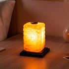 """Светильник соляной """"Зебра арома"""", с ароматизатором, цельный кристалл, 2-3 кг"""