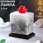 """Светильник соляной """"Аромат любви"""", с ароматизатором, цельный кристалл, 3-4 кг"""