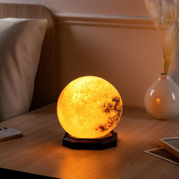 "Соляная лампа ""Шар малый"", цельный кристалл, 13х13х14см, 2-3 кг"