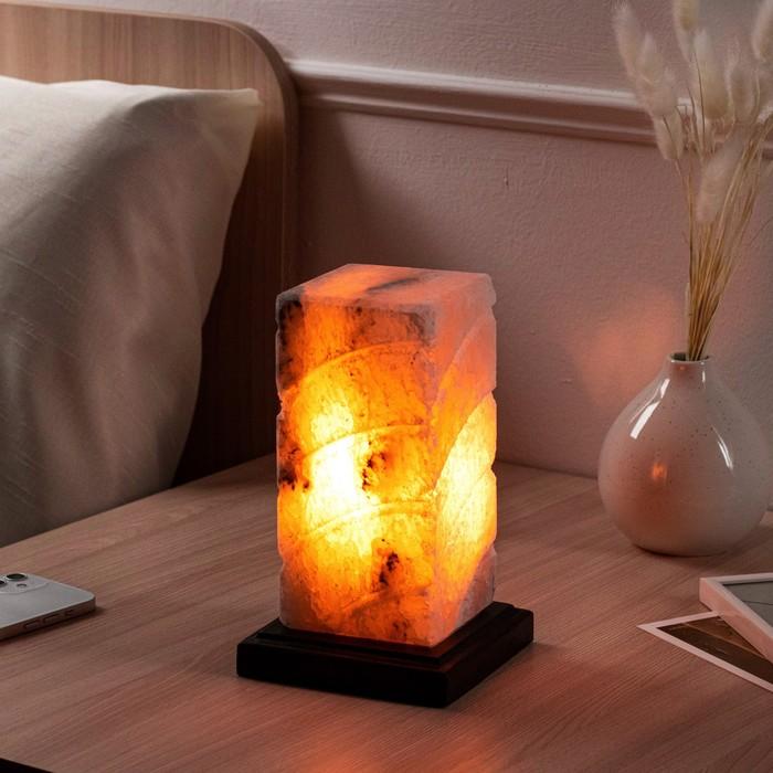 """Соляная лампа """"Элегант"""", цельный кристалл, 12х12х19,5см, 3 кг"""