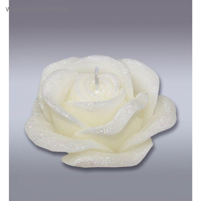 Свеча роза сл.кость