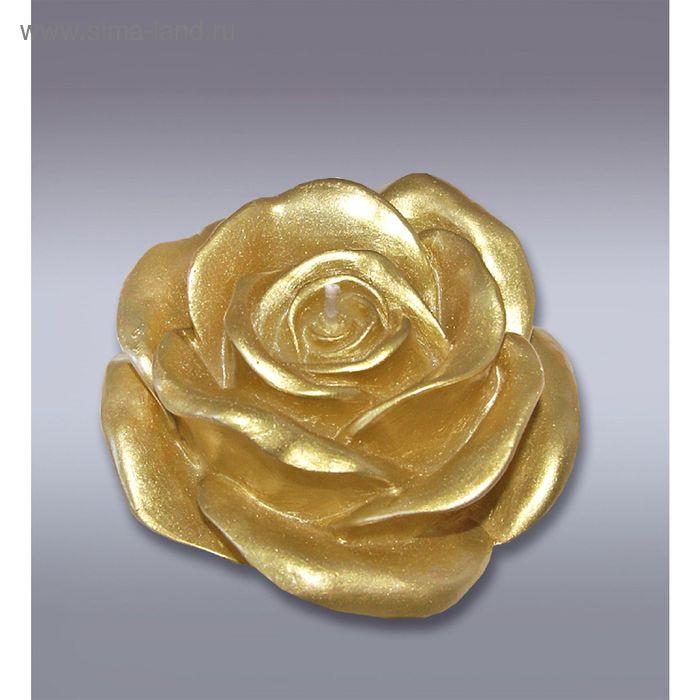 Свеча роза золотая