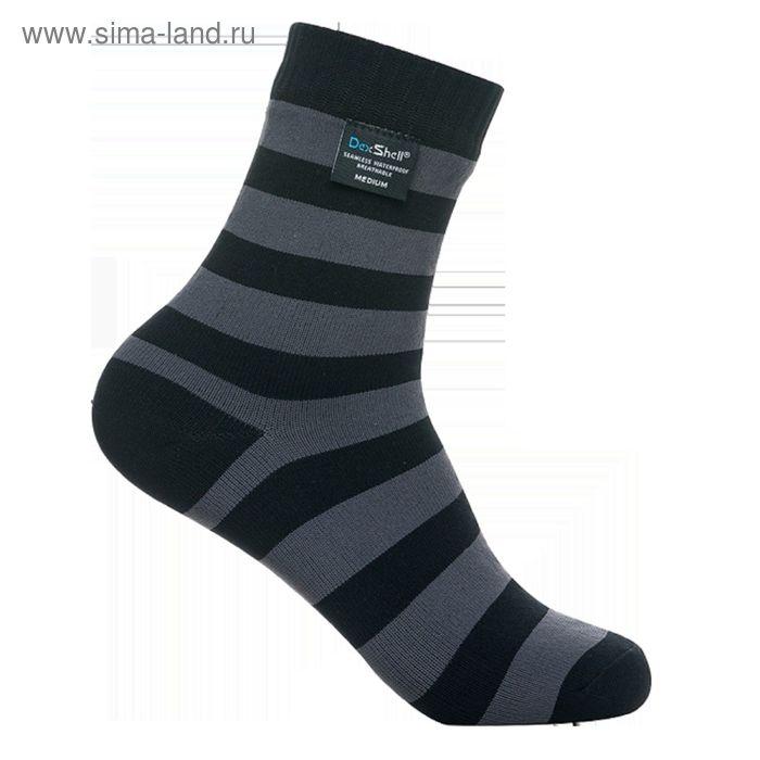 Носки водонепроницаемые M Dexshell Ultralite Bamboo Black grey stripe DS643
