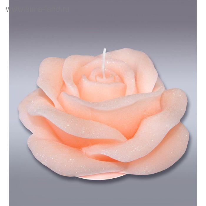 Свеча супер роза оранжевая