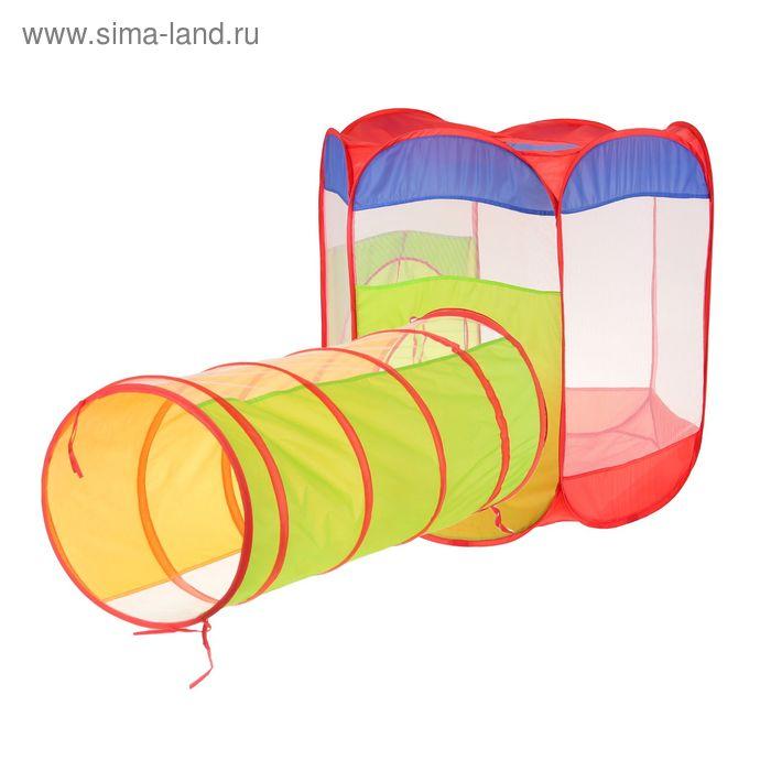 """Палатка детская игровая с лабиринтом """"Увлекательное приключение"""""""