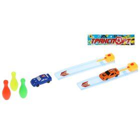 Игровой набор 'Автобоулинг', 2 трека, 2 машины, 3 кегли Ош