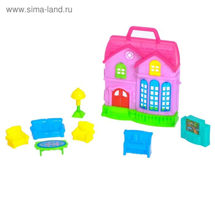 Дом для кукол, с аксессуарами, МИКС
