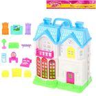 Дом для кукол складной, с аксессуарами, 12 предметов