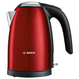 Чайник электрический Bosch TWK7804, металл, 1.7 л, 2200 Вт, красный