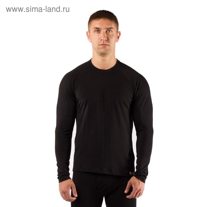Футболка  мужская Atar/ дл. рукав/ шерсть 160/ черный/ XL
