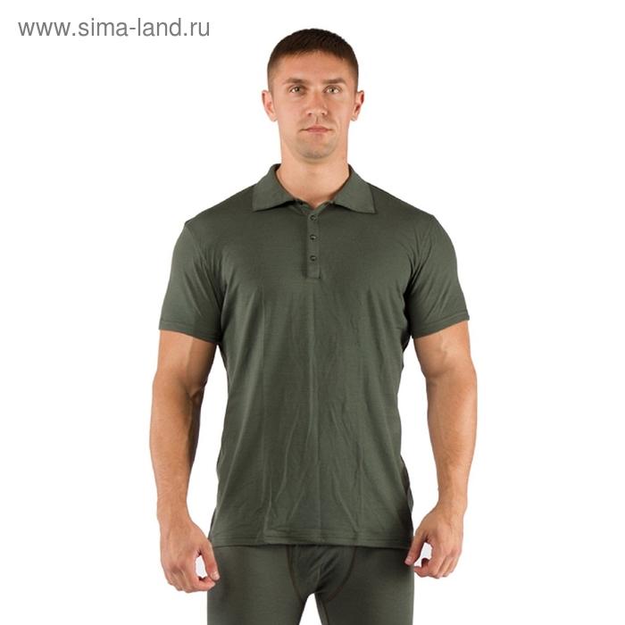 Футболка  мужская DINGO/ кор. рукав/ шерсть 160/ зеленый / XL