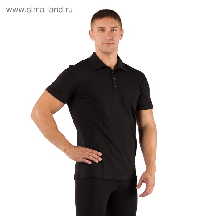 Футболка  мужская DINGO/ кор. рукав/ шерсть 160/ черный / M