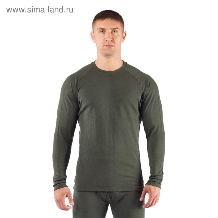 Футболка мужская Rosta с дл. рукавом, шерсть 220, цвет зелёный, XL