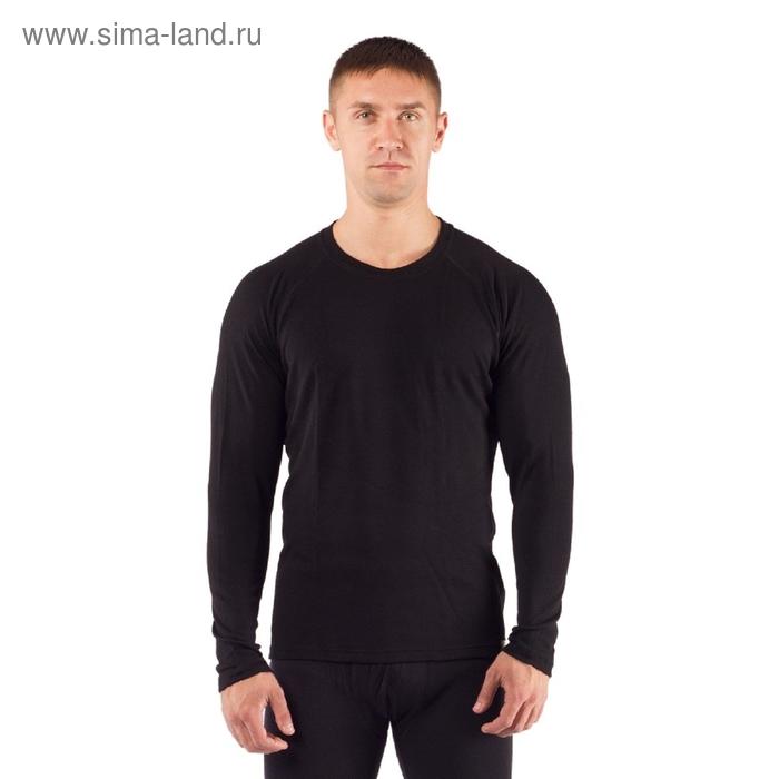 Футболка мужская Rosta с длинным рукавом, шерсть 220 г/м2, цвет чёрный, L