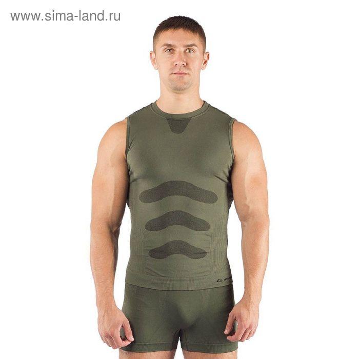 Майка  мужская Achile/ кор. рукав/ синтетика/ зеленый/ S-M