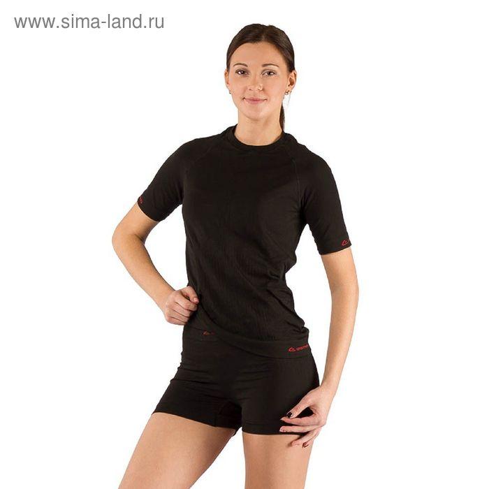 Футболка женская Alba/ кор. рукав/ синтетика/ черный/ S-M