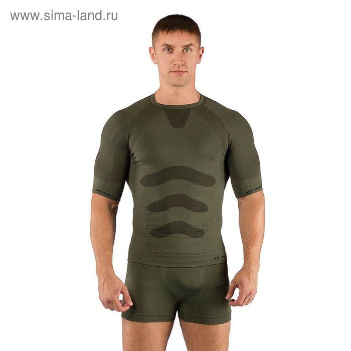Футболка мужская Abel/ кор. рукав/ синтетика/ зеленый/ S-M