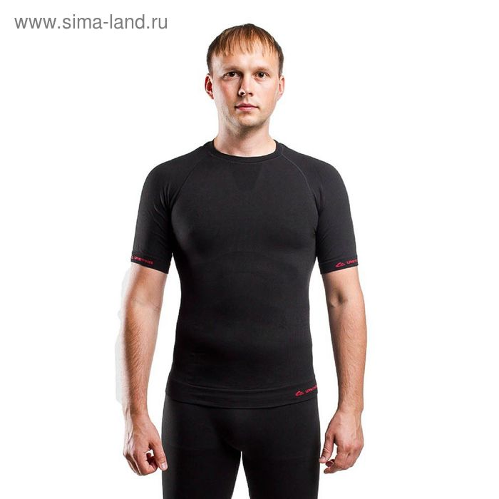 Футболка мужская Abel/ кор. рукав/ синтетика/ черный/ L-XL
