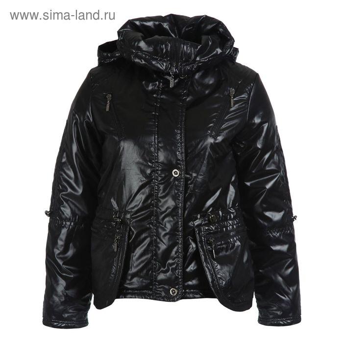 Куртка для девочек демисезонная, рост 140 см, цвет чёрный 17-521