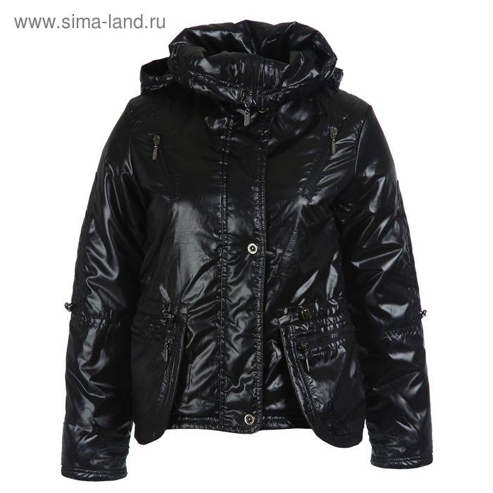 Куртка для девочек демисезонная, рост 158 см, цвет чёрный 17-521