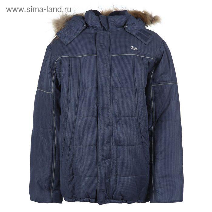 Куртка для мальчиков зимняя, рост 140 см, цвет тёмно-синий 17-412