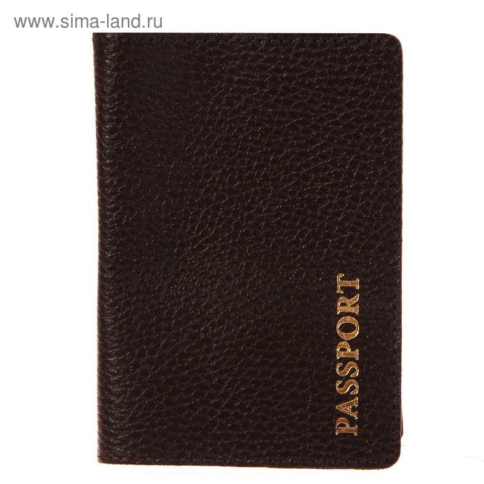 Обложка для паспорта, коричневый флотер