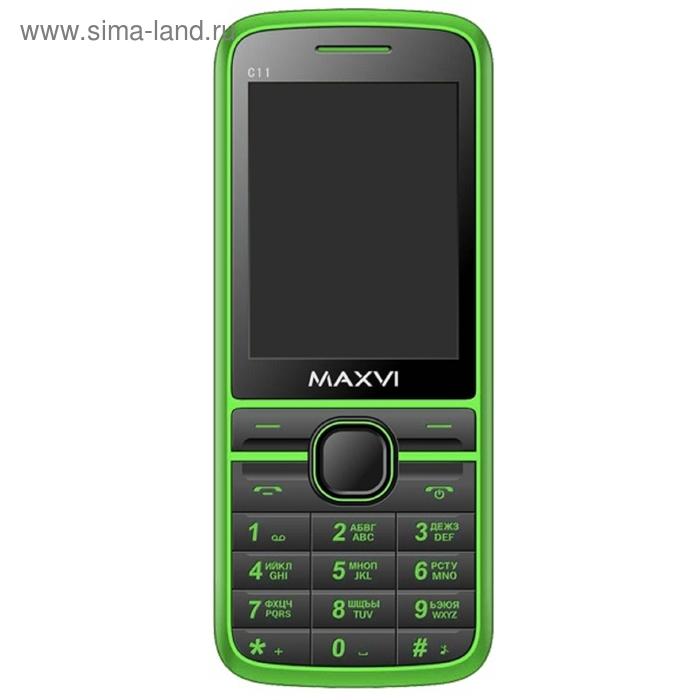Мобильный телефон Maxvi C11, зелёный