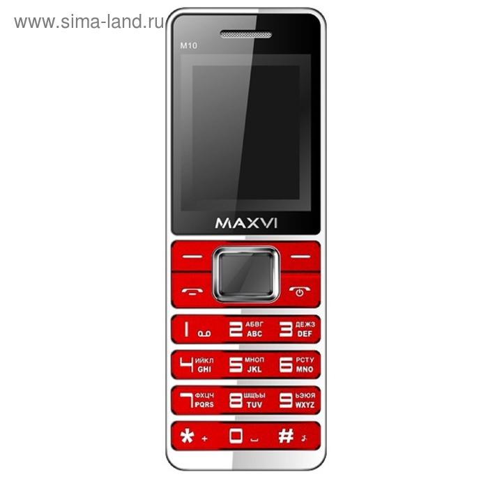 Мобильный телефон Maxvi M10, красный