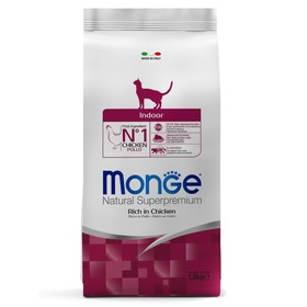 Сухой корм Monge Cat Indoor для домашних кошек, 1,5 кг