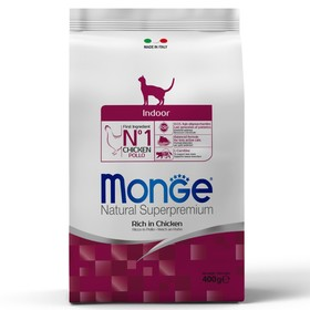 Сухой корм Monge Cat Indoor для домашних кошек, 400 г